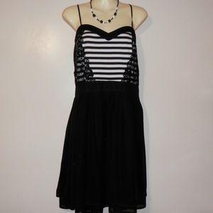 Maurices Studio Y Dress XL Black White Short E409